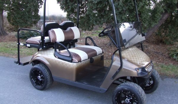 2015 EZGO TXT BRONZE CHECKERED ELECTRIC